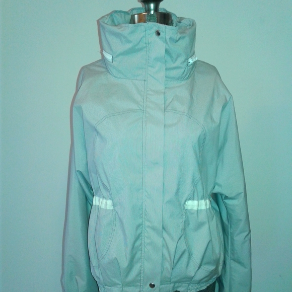 Lululemon Jacket Size 10 white Blue Striped Hooded